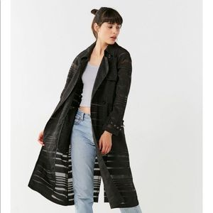 Urban Outfitters Mesh Trench Coat